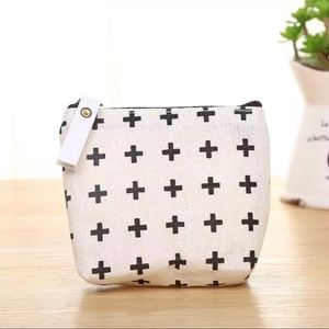 Handbags - Geo Print Cosmetic Makeup Coin Bag